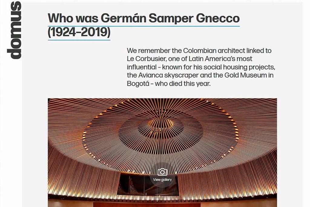Nossa homenagem a German Samper
